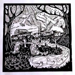 Malmesbury big print | Lino print | 300 x 300mm