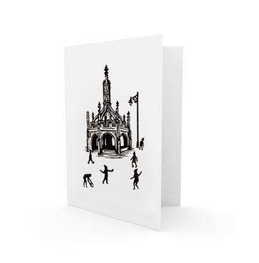 Christmas card 1 - 2016 | 1-colour lino print | 100 x 150mm on A6