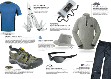 Cotswold Outdoor - page from promo magazine