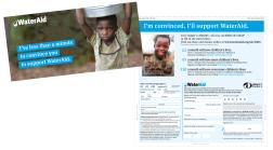 Water Aid leaflet design