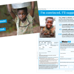 Water Aid leaflet design