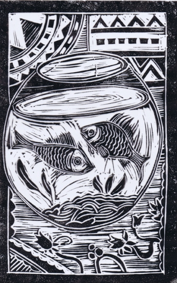 Fish | Lino print | 150 x 280mm
