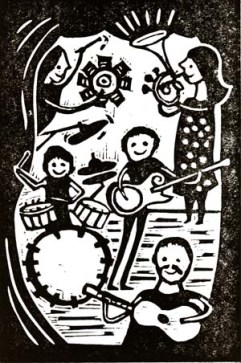 Keston Cobblers' Club | Lino print | 100 x 150mm