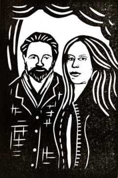 Naomi Bedford & Paul Simmonds | Lino print | 100 x 150mm