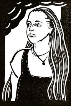 Polly Money | Lino print | 100 x 150mm