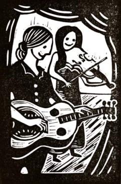 Phillip Henry & Hannah Martin | Lino print | 100 x 150mm