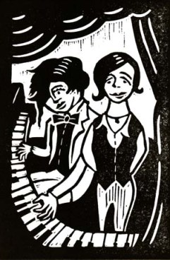 O'Hooley & Tidow | Lino print | 100 x 150mm