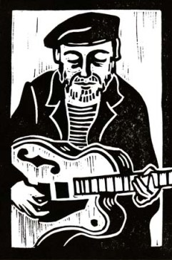 Richard Thompson | Lino print | 100 x 150mm