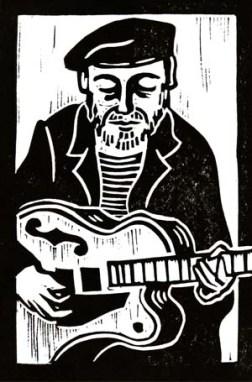 Richard Thompson | Lino print | 100 x 150mm