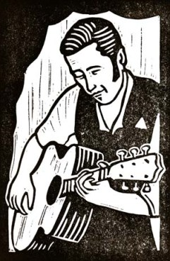 Justin Currie | Lino print | 100 x 150mm