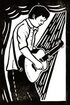Tom Clements | Lino print | 100 x 150mm