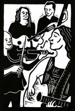 Catherine Burke | Lino print | 100 x 150mm