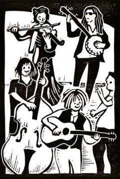 CoCo & the Butterfields | Lino print | 100 x 150mm