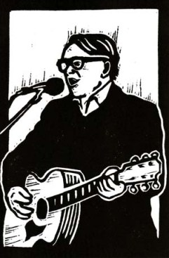Chris Difford | Lino print | 100 x 150mm