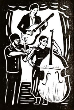 The String Contingent | Lino print | 100 x 150mm
