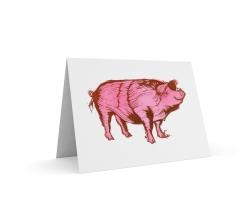 Piggy card | 2-colour print (2 plates) | 150 x 100mm on A5