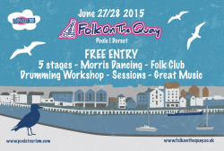 Folk on the Quay 2015 Flyer