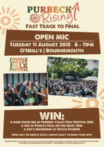 Purbeck Vally Folk Festival competition Ad