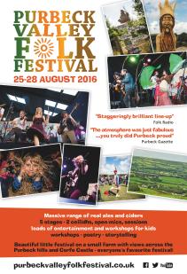 Purbeck Valley Folk Festival Magazine Ad