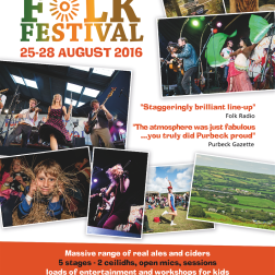 Purbeck Valley Folk Festival ad