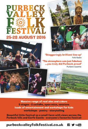 Purbeck Valley Folk Festival Magazine Ad