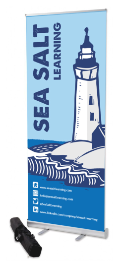 Sea Salt Learning Lighthouse roller banner