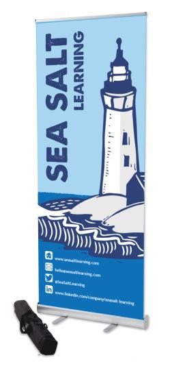 Sea Salt Learning Lighthouse roller banner