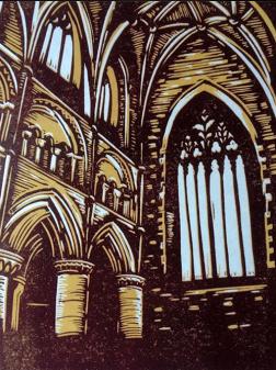 Abbey Interior | 2 colour reduction print