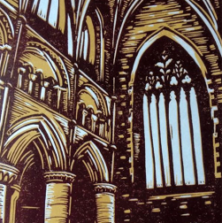 Abbey Interior | 2 colour reduction print