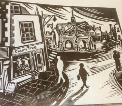 Top of the High Street | Lino print | 300 x 250mm